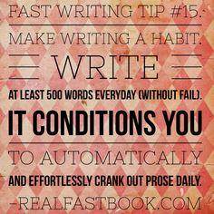 Make Writing A Habit.