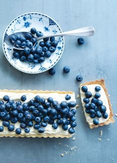 Blueberries, food, blueberry pie