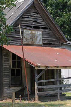 Cotton Plant, Arkansas - an old store front in this small rural town
