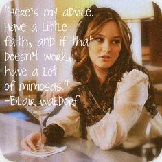 greatest advice from Blair Waldorf