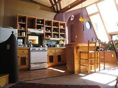 Kitchen Design - Earthship House by James Wilson