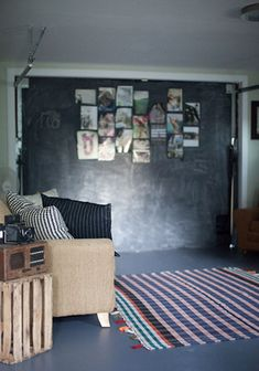 blackboard and couch