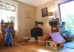 Natural Wooden toys from Elves and Angels - Wooden Play Kitchen