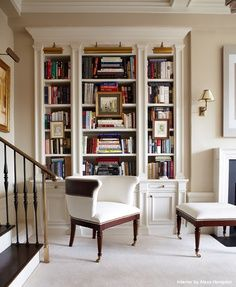 Artwork over bookcases