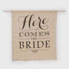 Occasions to Blog: Here Comes the Bride Banners (Banner Link - http://occasionsinprint.carlsoncraft.com/Wedding/Reception-Decorations/ZB-ZBK31259-Rustic-Here-Comes-the-Bride-Sign.pro)