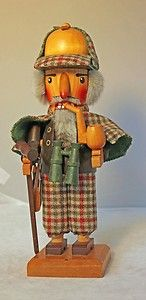 Vintage Sherlock Holmes Steinbach Nutcracker from West Germany