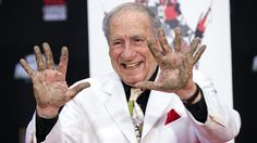 Mel Brooks puts 2 hands — 11 fingers — in concrete at Chinese Theatre