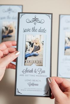 DIY Wedding magnet save the date invitations!