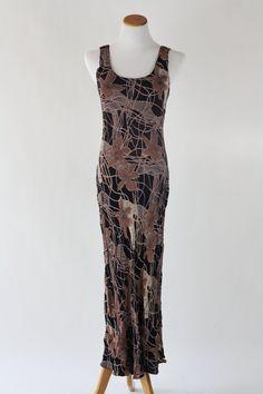 Vintage Black Floral Slink Dress