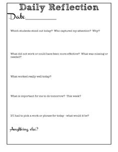 Reflective Teaching Journal