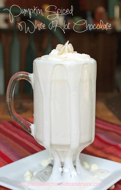Pumpkin Spiced White Hot Chocolate