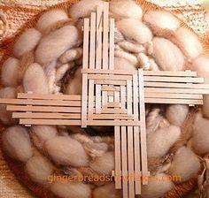 Brigid's Cross Woven with BARC Wood Grain Paper
