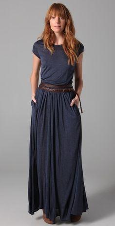 Maxi Tee Dress Comfy and Casual yet sophisticated skirt, tee shirt dress, maxi dresses, dress jersey, outfit, belt, tee dress, maxi tee