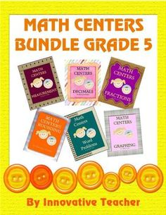 Math Centers Bundle Grade 5