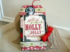 Gift card holder, Christmas tag idea, #papercrafts, #scrapbook