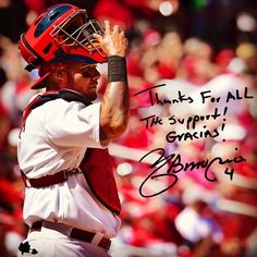 """Thanks for all the support! Gracias!"" - Yadier Molina"