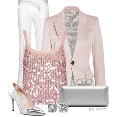 "Pink and sparkles what more could I ask for. ""Sequins 2"" by bln-in-mn on Polyvore"