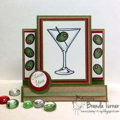 """Olive"" this card created for us by Brenda Turner. Rubber stamps by Repeat Impressions. - http://www.repeatimpressions.com - #repeatimpressions #rubberstamps #rubberstamping  #cardmaking"