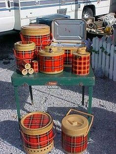 Nancy's Vintage Trailers - Vintage Camping Gear - Find It - Decorate with It. My Mom had these. We would use them for breakfast on the beach all summer long.