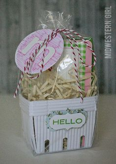 Berry basket gift packaging