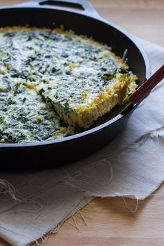 kale frittata with millet crust