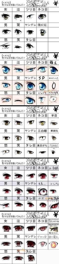 眼睛,How to Draw Manga People,Resources for Art Students / Art School Portfolio @ CAPI ::: Create Art Portfolio Ideas at milliande.com , How to Draw Manga Figures, Whimsical Human Figure, Sketch, Draw, Manga, Anime, Girls, Cute, Kawaii,Eyes, Eye