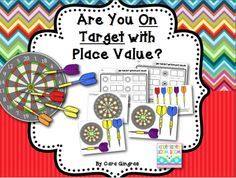 Place Value Are You On Target? K/1 Math Game/Center from Kindergarten Boom Boom on TeachersNotebook.com -  (35 pages)  - This is a game I use in Math Stations. There are 2 different ways to play this game. It focuses on place value using tens and ones.