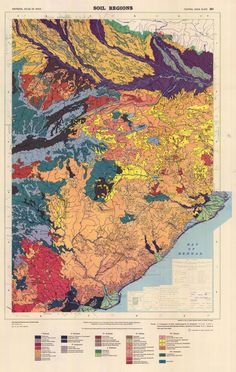 / Soil Regions of central India #maps