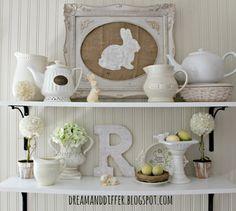 Pottery Barn Inspired Easter Art and a Spring Vignette