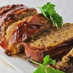 BBQ Bacon-Wrapped Meatloaf Allrecipes.com
