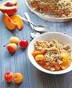 Peach Cherry Crisp
