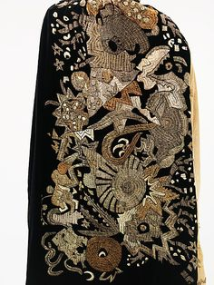 Evening cape  Myrbor  (French, 1922–1936), Silk, metal, ca. 1925
