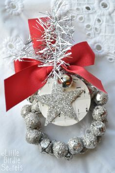 glitter ornaments, christmas wreaths, silver christmas, christmas bells, deck the halls