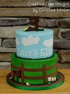 Farm Birthday                                                                                                                                                           Farm Birthday Cake                                                                ..