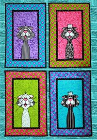 Cattitude Wallhanging Pattern by Whistlepig Creek at KayeWood.com. http://www.kayewood.com/item/Cattitude_Pattern/1260 $9.50