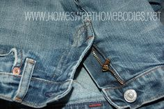 Home Sweet Homebodies: Fixing Jeans With a Broken Zipper