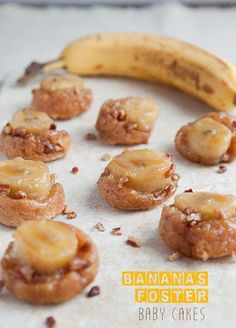 Bananas Foster Baby Cakes