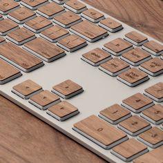 Lazerwood Keyboard Keys