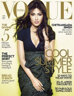 Bollywood actress Chitrangada Singh wearing Burberry Prorsum Spring/Summer 2012 for the cover of the May issue of Vogue India