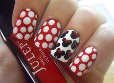Minnie nails!!!