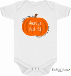 Custom Name - My First Halloween - Baby's First Halloween - Cute Baby Clothes - Cute Baby Shirt - Pumpkin Baby - Newborns First Halloween