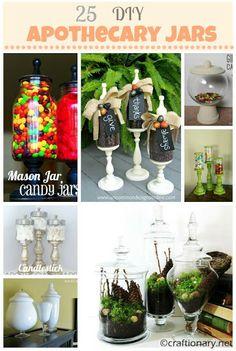 25 DIY Apothecary Jars