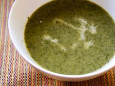 Creamy lettuce and garlic scape soup. Eat it hot or cold, and it's a great way to use #garlic scapes!