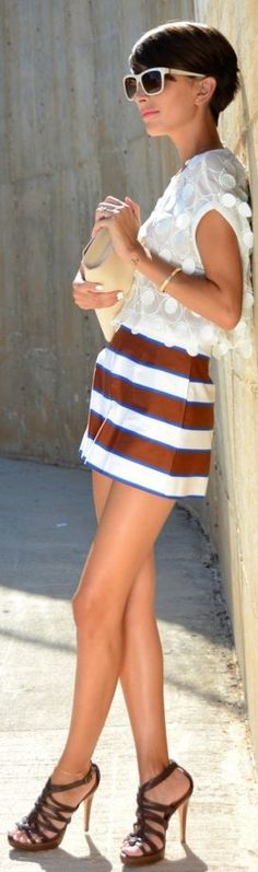 Sex and the City: Asos Multi Wide Stripe Culotte Shorts by Divina Se Nace