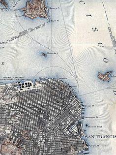 Map Of San Francisco 1915