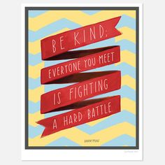 Be Kind 8.5x11, $22, now featured on Fab.