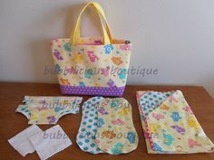 Dolly and stuffed animal diaper bag sets by bubbiliciousboutique