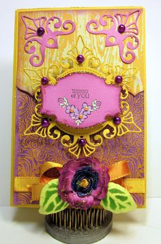 JustRite Stamps, Spellbinders dies, May Arts Ribbons by Gini Williams Cagle