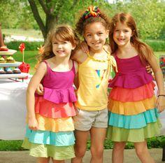 rainbow party dresses