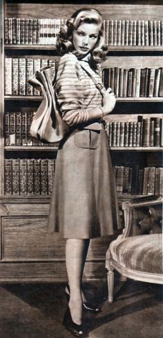 Lauren Bacall, 1947. From Filmjournalen magazine.